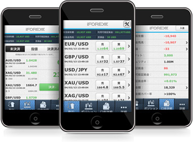 iforexのスマホアプリはシンプルで使いやすい