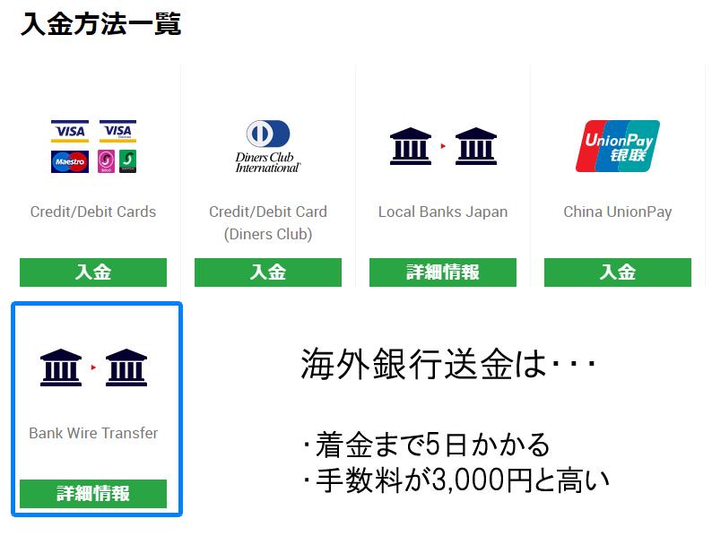 海外銀行送金はおすすめできない