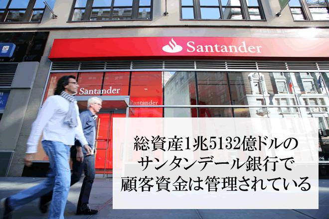 サンタンデール銀行は総資産1兆5132億ドルのメガバンク