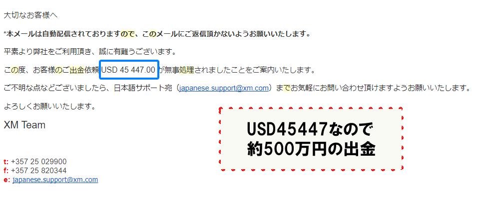 XMで約500万円