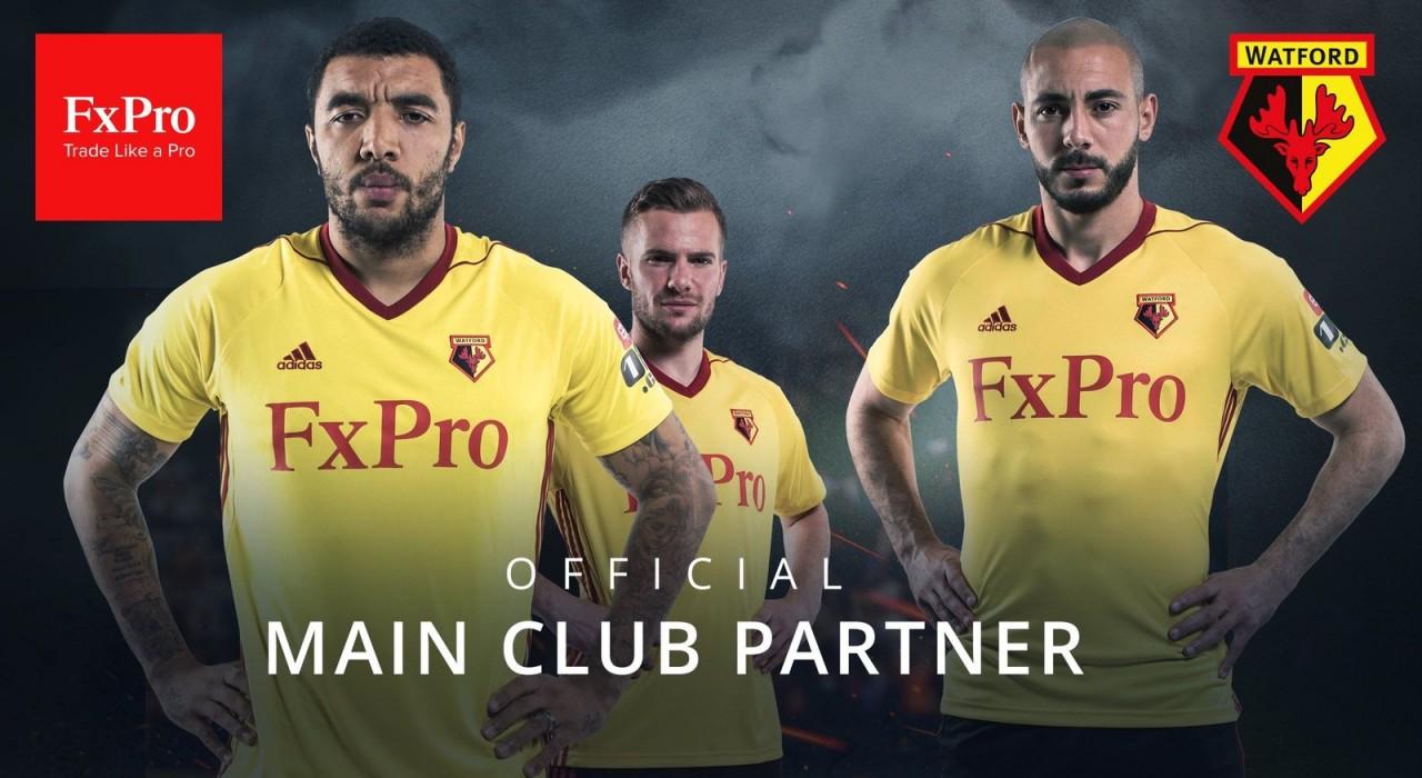 FXProは英国プレミアリーグの『ワトフォードFC』のスポンサー