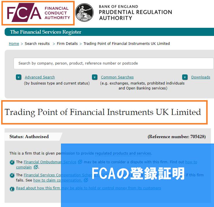 FCAの登録証明