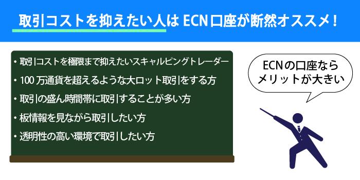 ECN口座を選ぶのがおすすめの人