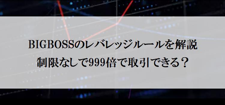 BIGBOSSのレバレッジルールをまるっと解説!制限なしで最大999倍で取引できる?のアイキャッチ